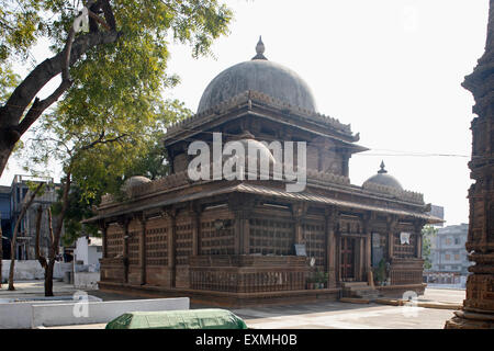 Heritage stone mosque ; Rani Sipri's tomb ; Ahmedabad ; Gujarat ; India - Stock Photo