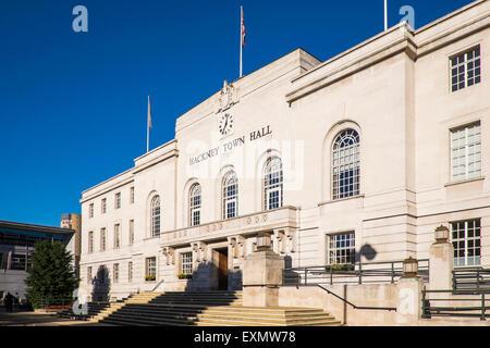 Hackney Town Hall, London, England, U.K. - Stock Photo