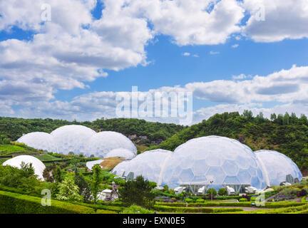 The Eden Project, Bodelva, near St Austell, Cornwall, England, UK - Stock Photo