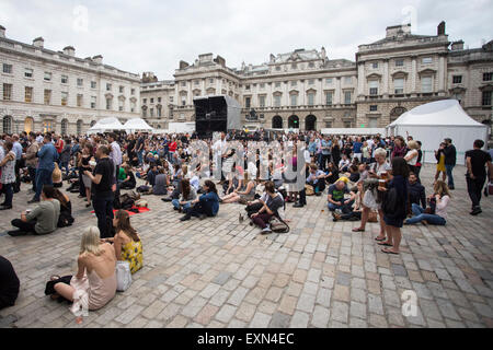 London, UK 15th July 2015. Aquilo, Summer Series, Somerset House. Credit:  Robert Stainforth/Alamy Live News Live - Stock Photo