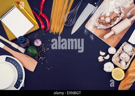 Food Hero header for kitchen or restaurant. - Stock Photo