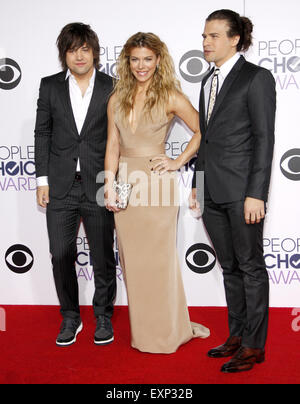 Reid Perry, Kimberly Perry and Neil Perry of The Band Perry at the 41st Annual People's Choice Awards. - Stock Photo
