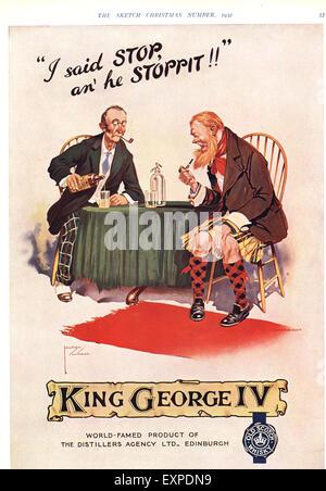 1930s UK King George IV Magazine Advert - Stock Photo