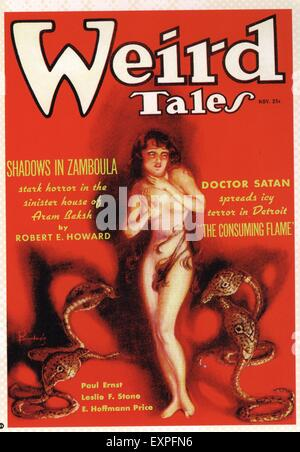 1930s USA Weird Tales Magazine Cover - Stock Photo
