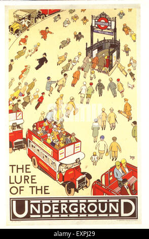 1930s UK London Transport Poster - Stock Photo