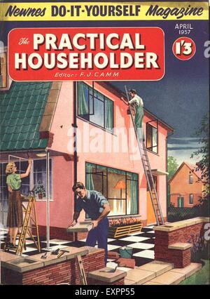 1950s uk practical householder magazine cover stock photo royalty 1950s uk practical householder magazine cover stock photo solutioingenieria Images
