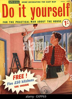 1950s uk do it yourself magazine cover stock photo 85322904 alamy. Black Bedroom Furniture Sets. Home Design Ideas