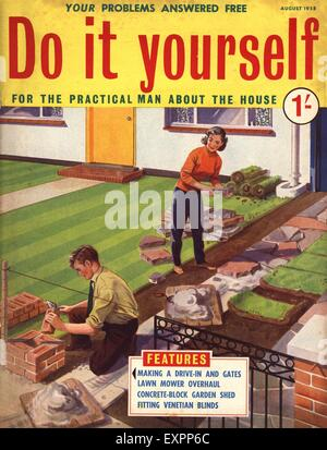 1950s uk do it yourself magazine cover stock photo 85350111 alamy. Black Bedroom Furniture Sets. Home Design Ideas