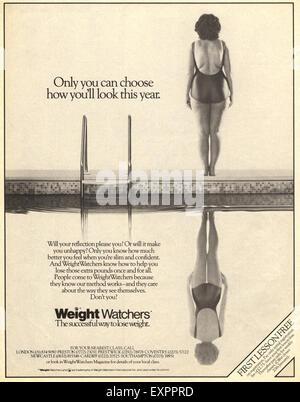 1980s UK Weight Watchers Magazine Advert - Stock Photo