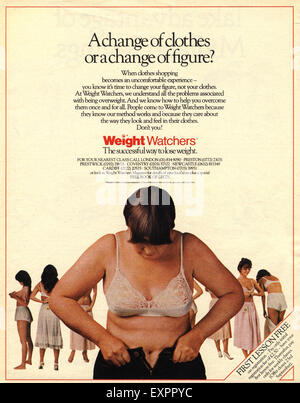 1980s UK Weight Watchers Magazine Advert - Stock Photo