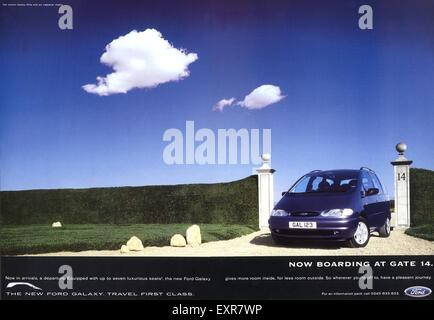 1990s UK Ford Magazine Advert - Stock Photo