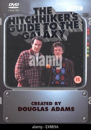 2000s UK The Hitchhikers Guide to the Galaxy Book Cover - Stock Photo