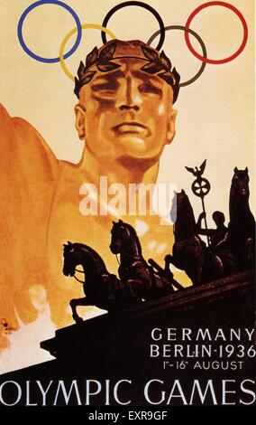 1930s Germany Olympic Games Poster - Stock Photo