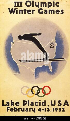 1930s USA Olympic Games Poster - Stock Photo