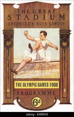 1900s UK Olympic Games Poster - Stock Photo