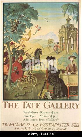1920s UK London Transport Poster - Stock Photo