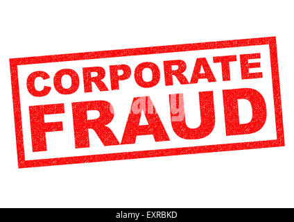 CORPORATE FRAUD red Rubber Stamp over a white background. - Stock Photo