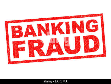 BANKING FRAUD red Rubber Stamp over a white background. - Stock Photo