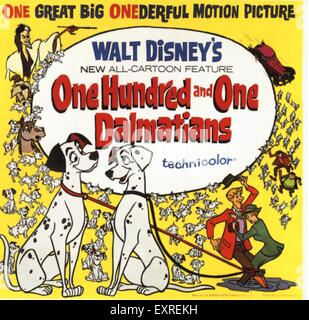 1960s USA One Hundred And One Dalmations Film Poster - Stock Photo