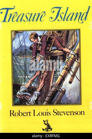 1980s UK Treasure Island by Robert Louis Stevenson Book Cover - Stock Photo