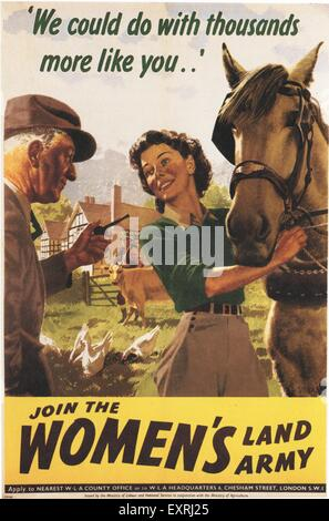 Land Girls Of The Ww2 Womens Land Army With The Squire And