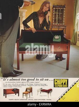 1970s UK Chippy Magazine Advert - Stock Photo