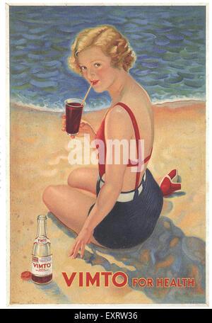 1930s UK Vimto - Stock Photo