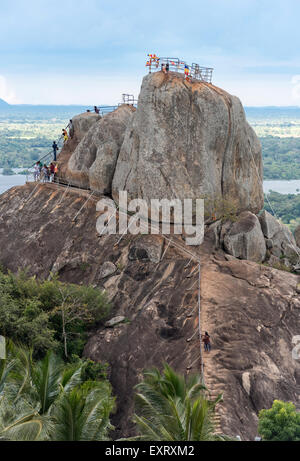 Aradhana Gala Rock, Mihintale, Sri Lanka - Stock Photo