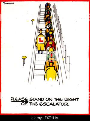 1940s UK London Underground Poster - Stock Photo