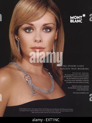 2000s UK Mont Blanc Magazine Advert - Stock Photo