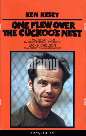 1980s UK One Flew Over The Cuckoo's Nest Book Cover - Stock Photo