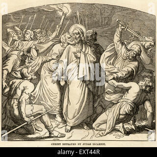 1910s UK Biblical Scene Book Plate - Stock Photo