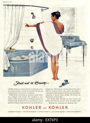 1950s USA Kohler Magazine Advert Stock Photo, Royalty Free Image ...