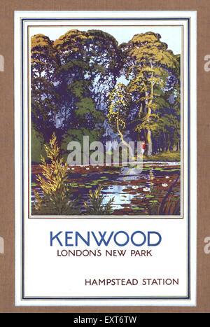 1930s UK London Transport Underground Poster - Stock Photo