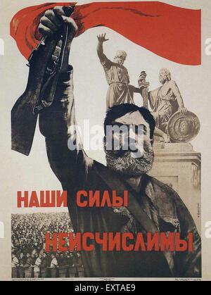 1940s Russia Russian Propaganda Poster - Stock Photo