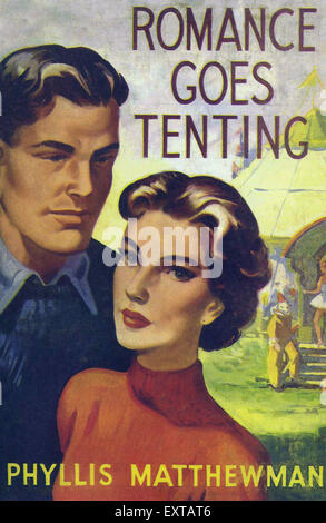 1950s UK Mills & Boon Book Cover - Stock Photo