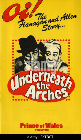 1980s UK Underneath the Arches Poster - Stock Photo