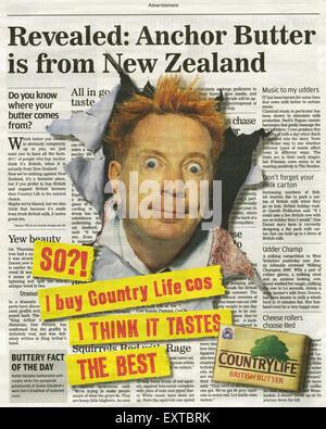 2000s UK Country Life Newspaper Advert - Stock Photo