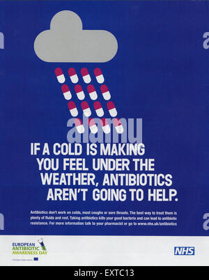 2000s UK National Health Service Magazine Advert - Stock Photo