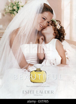 2000s UK Estee Lauder Magazine Advert - Stock Photo