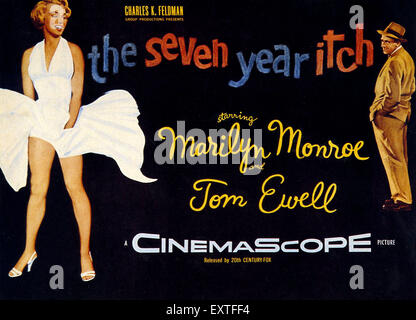 1950s USA The Seven Year Itch Film Poster - Stock Photo