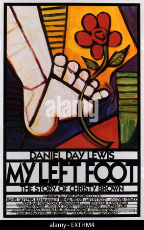 1980s USA My Left Foot Film Poster - Stock Photo