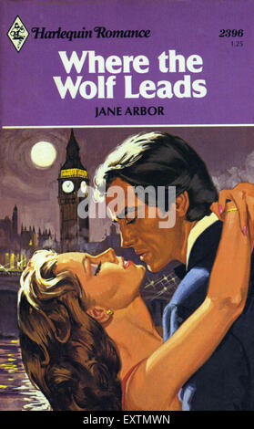 1980s UK Mills and Boon Book Cover - Stock Photo