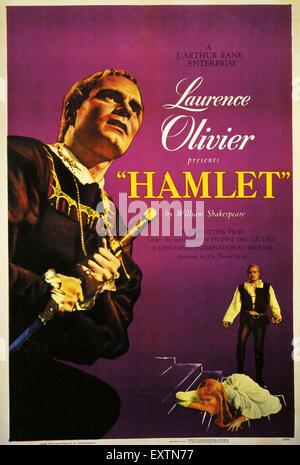 1940s UK Hamlet Film Poster - Stock Photo
