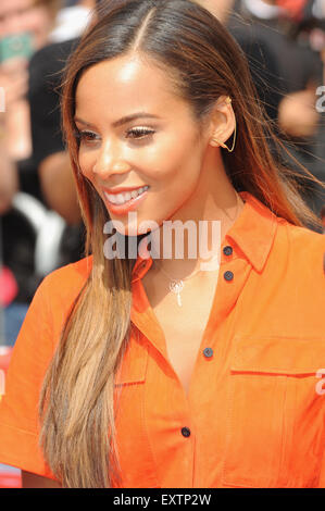 London, UK, UK. 16th July, 2015. Rochelle Humes arrives for the London auditions of The X Factor at Wembley Arena. - Stock Photo