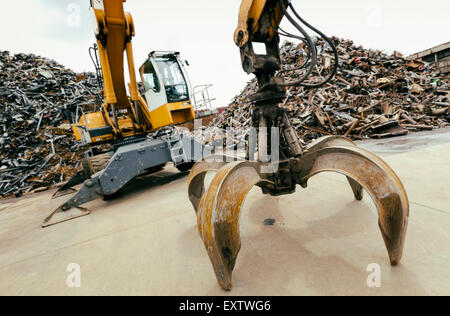 Recycling yard in Hamburg, Germany, scrap metal - Stock Photo