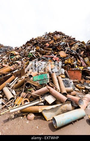Recycling yard in Hamburg, scrap metal - Stock Photo