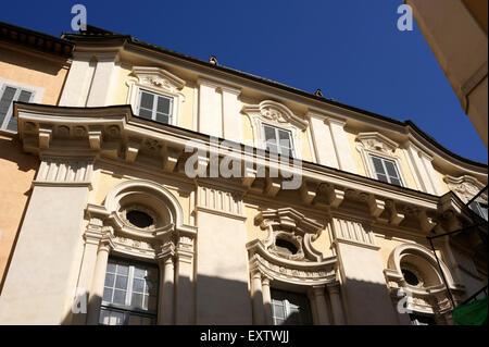 italy, rome, palazzo di propaganda fide (borromini) - Stock Photo