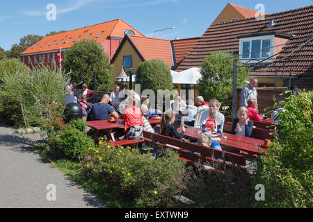 The ice-cream café at the end of Nørregade in Hundested  near Skansen and the path to Knud Rasmussen's house on - Stock Photo