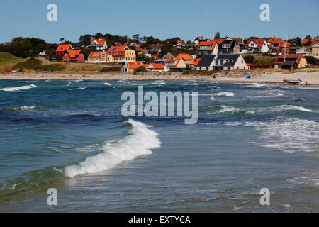 Surf at Hundested Beach on a summer's day - Stock Photo